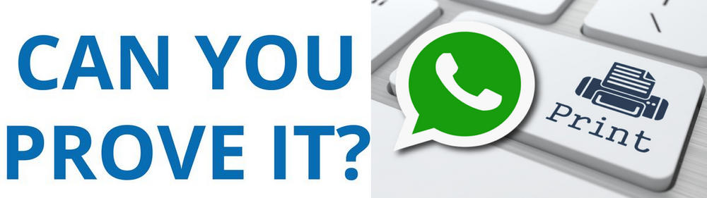 print WhatsApp chats as evidence in court for legal matters