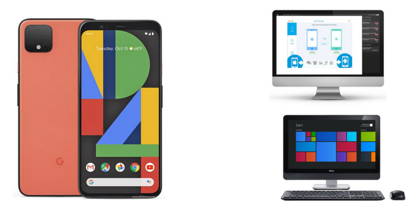 transfer data from google pixel 4 to pc