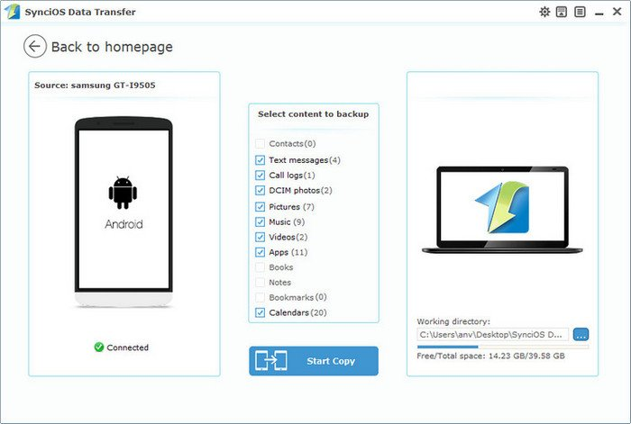 Samsung Galaxy Manager Tool Sync Contacts Videos Music