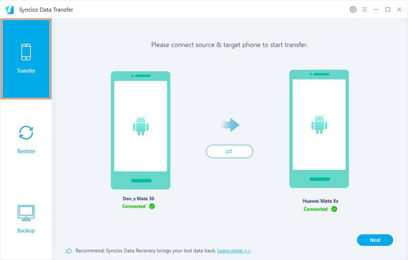 transfer data to Huawei Mate Xs