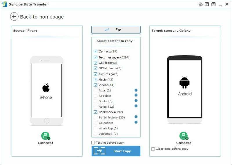 How to Transfer Data from iPhone/iTunes/iCloud to Samsung