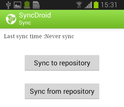 Sync Android to Repository